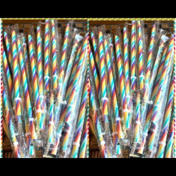 Starbucks Other - Starbucks Rainbow Straws (5 piece bundle)